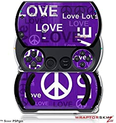 Love And Peace Purple Decal Style Skins (Fits Sony Ps Pgo)
