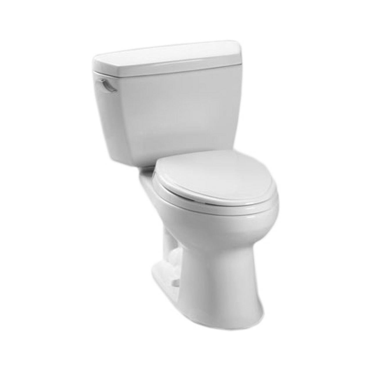 Toto CST744EF.10No.01 Eco Drake Two-Piece Toilet, 1.28-GPF, Cotton