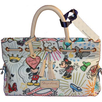 Disney Dooney & Bourke Sketch Tassle Tote