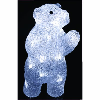 PW Stunningly Bright LED Crystal Ice Bear Christmas Decoration