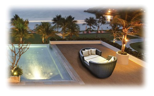 3-Piece Wicker/Aluminum Frame Modular Poolside Sofa Set