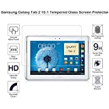 MOTONG Samsung Galaxy Tab 2 10.1 Tempered Glass Screen Protector, 9 H Hardness, 0.3mm Thickness,Made From Real Glass, Shatterproof