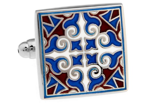Persian Sunset Color Art Deco Cufflinks by Mens Bodega