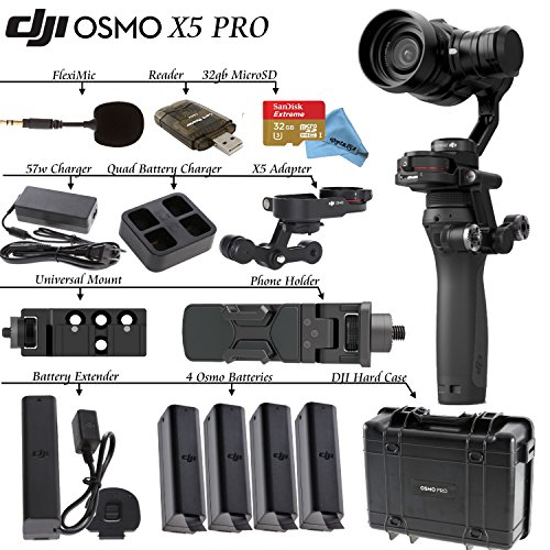 DJI OSMO Pro Bundle - Includes 4 Batteries, Zenmuse X5, Osmo X5 Adapter, DJI Hard Carrying Case and much much more...