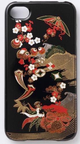 iPhone4:4S Hard Case Japanese lacquer Makie Takarazukushi...