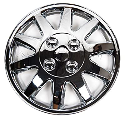 "Chrome 14"" Hub Caps Full Wheel Rim Covers w/Steel Clips (Set of 4) - KT-918-14"