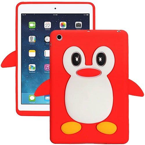 Red Penguin Silicon Soft Rubber Skin Case Cover For Apple Ipad Mini