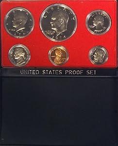 1974 Us Mint Proof 5 Coin Set Original Box