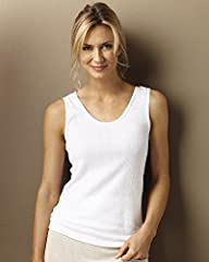 Indera 100% Cotton Rib Knit Camisole,…