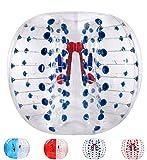 バブルサッカー直径5'(1.5m)人類ハムスタ一ボール、バブルボール、バンパーボール、ゾーブ、サイクルボール、循環ボール(青色点)