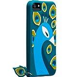 Case-Mate 日本正規品 iPhoneSE / 5s / 5 CREATURES: Peacock Case, Teal クリーチャーズ: ピーコック シリコン ケース, ティール CM022879