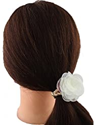 Anuradha Art Off White Colour Adorable Stylish Hair Accessories Hair Band Stylish Rubber Band For Women/Girls