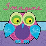 Highlighter Imagine Owl by Gibbons, Lauren - Fine Art Print on PAPER : 20 x 20 Inches