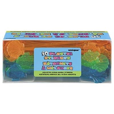 Ocean Animal Stirrers Box [50] by Unique