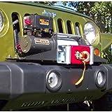 Body Armor 4x4 JK-3105 Black - Steel Winch Plate System for 2007 -2013Jeep Wrangler JK OEM Bumper