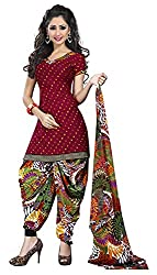 Offo*com Women's Synthetic Dress Material (1052)
