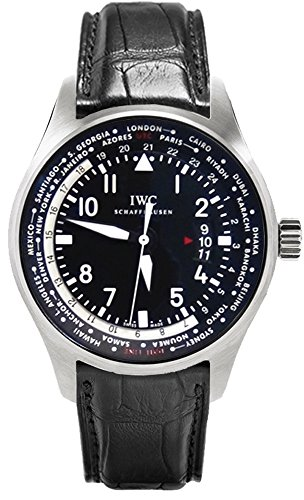 IWC Pilot Worldtimer Black Dial Automatic Mens Watch IW326201