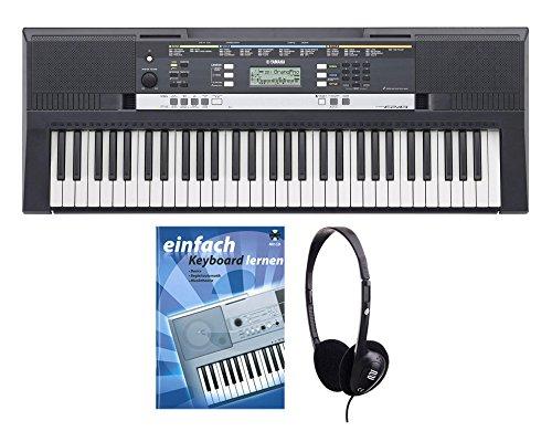 Yamaha PSR E243 Keyboard SET inkl. Kopfhörer und Schule (61 Tasten, 385 Klangfarben, 100 Begleitstyles, Panel Sustain, LCD , Reverb, inkl. Notenablage, Netzteil, Noten)