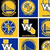 NBA Golden State Warriors Basketball Sports Team Fleece Fabric Print by the yard at Amazon.com
