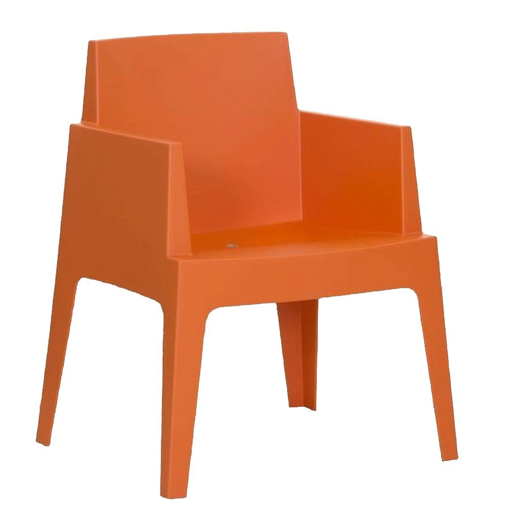 Gartensessel stapelbar aus Kunststoff Orange – Modell La Dolce Vita günstig