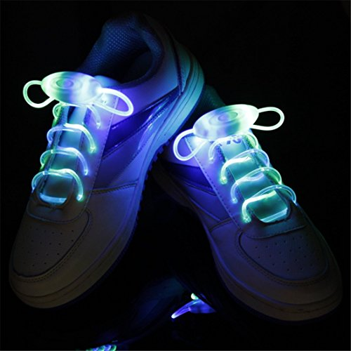 LED Shoelaces Light Up Shoe Laces with 3 Modes,KANGVO Flash Shoestrings for Party Hip-hop Dancing Cycling Hiking (Blue) (Led Light Up Shoe Laces compare prices)