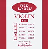 Super Sensitive Red Label 2104 Violin String Set, 1/2
