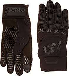 Oakley Men\'s Factory Pipe Gloves, Jet Black, Small