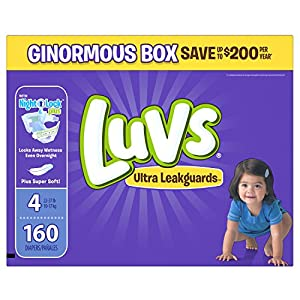 Luvs Ultra Leakguards Diapers, Size 4, 160 Count