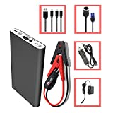 HALF Minute Power 400A Peak 12V Mini Car Battery Jump Starter Emergency Booster Charger and Emergency Jump Pack Auto Jumper for Smart Phones,MP3-5 players, Wireless Headphones and much more(black)