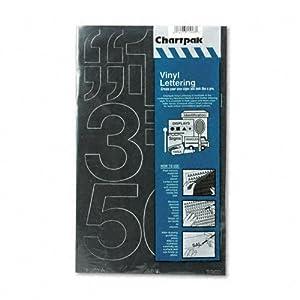 Press-On Vinyl Numbers, Self Adhesive, Black, 3''h, 10/Pack