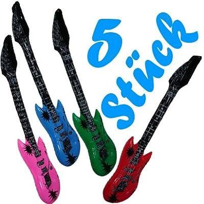 5 Stück Luftgitarren / aufblasbare Gitarren von Relaxdays
