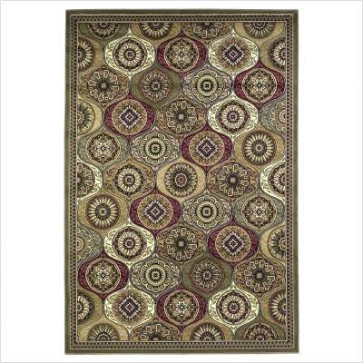 "Cambridge Multi Mosaic Panel Oriental Rug Size: 5'3"" x 7'7"" Rectangle"