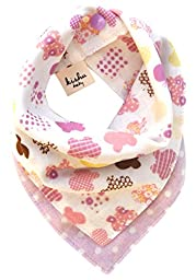 Kishu Baby Girl Bib, Boho Butterfly Bandana Bib, One Size Multicolor (purple)