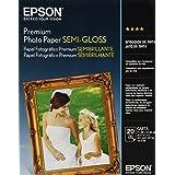 Epson Premium Photo Paper SEMI-GLOSS (8.5x11 Inches, 20 Sheets) (S041331)