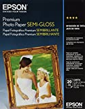 Epson Premium Photo Paper SEMI-GLOSS (8.5x11 Inches, 20 Sheets) (S041331)
