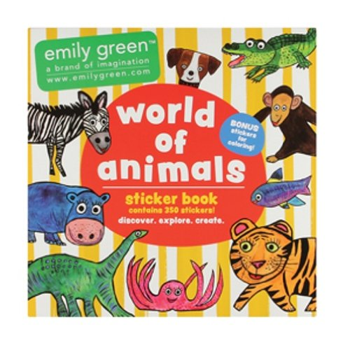 C.R. Gibson Emily Green Stickers, World of Animals - 1