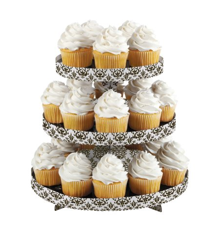 Wilton 1512-0703 1 Count Treat/Cake Stand, Damask - 1