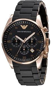 Armani Chronograph Bracelet Black Dial Men's Watch - AR5905 by Emporio Armani