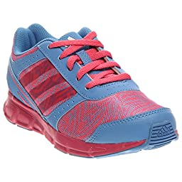 adidas Performance Hyperfast Running Shoe (Little Kid/Big Kid),Pink/Lucky Blue/White ,13.5 M US Little Kid