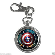 buy Khp013 New Captain America Shield Super Heroes Keychain Key Watch Silver