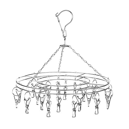 Hanging Drying Rack Laundry Drip Hanger with 20 Clips and 10 Spare Units by Amagoing (Cloth Diaper Dryer compare prices)