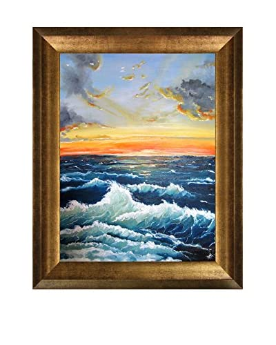 Susan Art Seascape Framed Canvas Print
