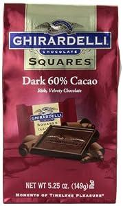 Ghirardelli Chocolate Squares, Dark Chocolate, 5.25 oz., 6 Count