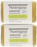 Neutrogena Naturals Face and Body Bar, 3.5 Ounce Bars (Pack of 2)