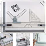 GOCHANGE A3 Drawing Board Table with Parallel Motion and Adjustable Angle, Metric Measuring System