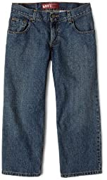Levi's Big Boys' 550 Relaxed Fit Jean, Clean Crosshatch, 12 Husky