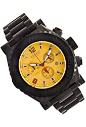 Renato Men's Emporium Chronograph Black IP Yellow Dial