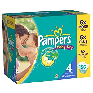 Amazon Com Pampers Baby Dry Diapers Size 4 Economy Pack