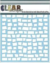 Clear Scraps Brick Stencils 12 by 12quot