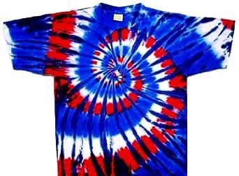 Tie Dyed Shop Red White Wild Blue Spiral Tie